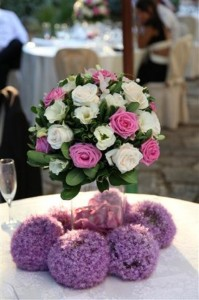 flowers wedding italy  castle borgia