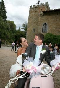 vespa wedding italy tuscany castle borgia