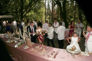 appetizers country wedding woods castle italy