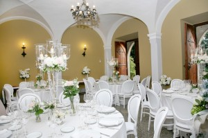 reception room wedding in italy castle borgia